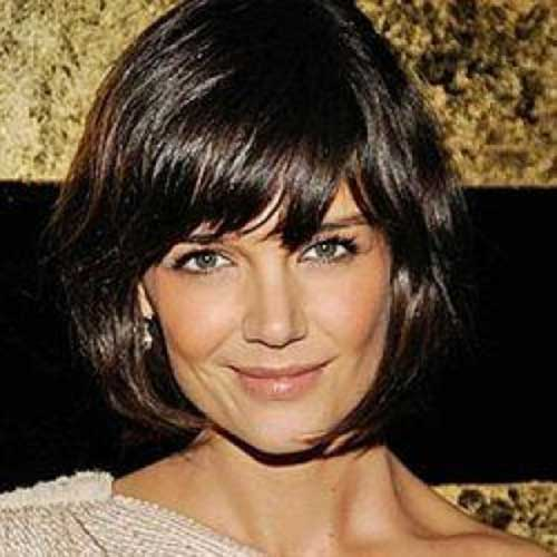 Katie Holmes Short Bob with Bangs