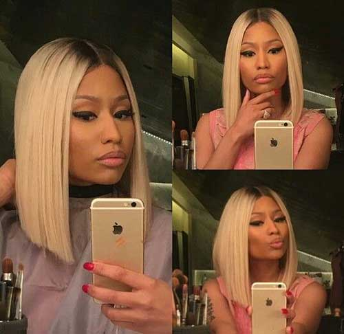 Nicki Minaj Blonde Colored Bob