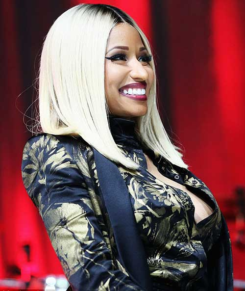 Nicki Minaj Blonde Hairstyle Bob
