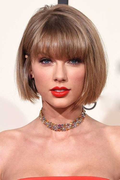 Short Bob with Bangs-19