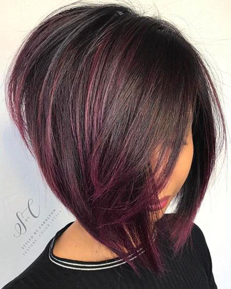 Bob Short Purple Line Textured Colors 50 207