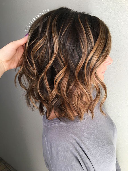 Highlights Caramel Balayage Layered Brown Subtle Short Honey Choppy