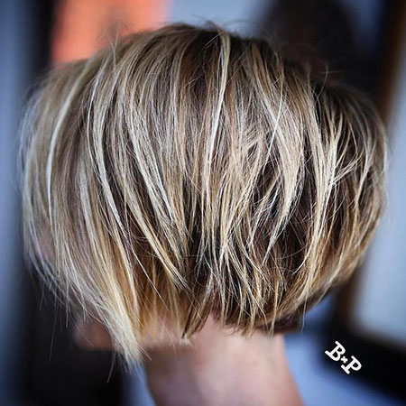 Bob Blonde Balayage Under Short Girls Twist Thick Textured Shaggy