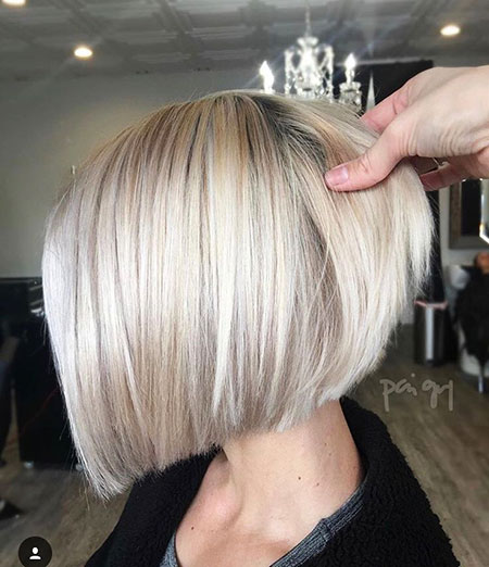 Bob Blonde Short Bobs Women Silver Layered Haare Graue