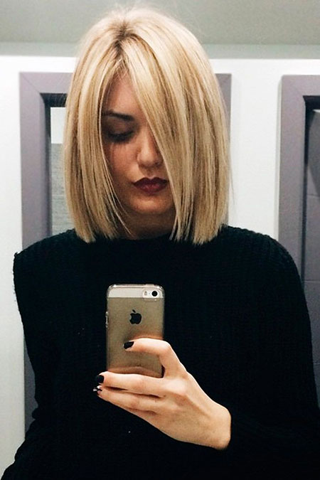 Bob Medium Short Blonde Women Length Bobs Around All