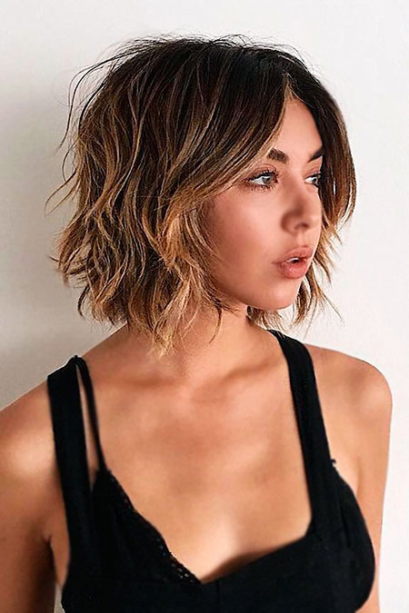 Short Bob Messy Layered Women Up Some Moore Mandy Brown