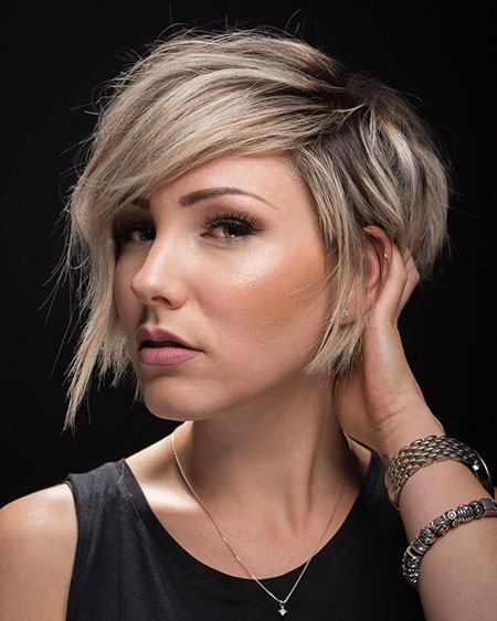 Short Bob Textured Pixie Chloe Brown Beach