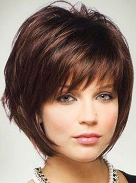 Short Bob Round Faces Face Bobs Bangs 205