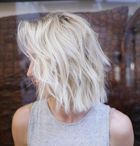 Bob Blonde Choppy Balayage Wavy Some Short Pretty Bobs Ash
