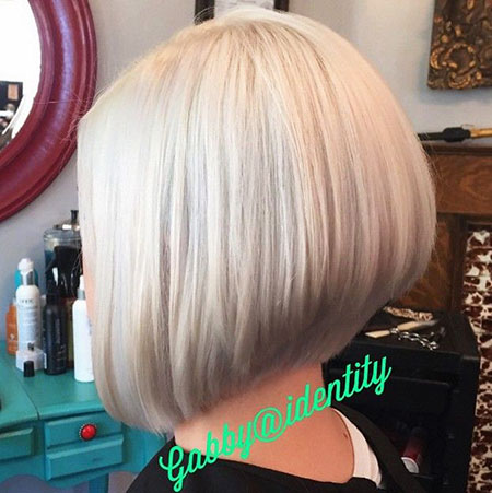 Bob Blonde Stacked Fine Bobs Short Longer Haare Graue All
