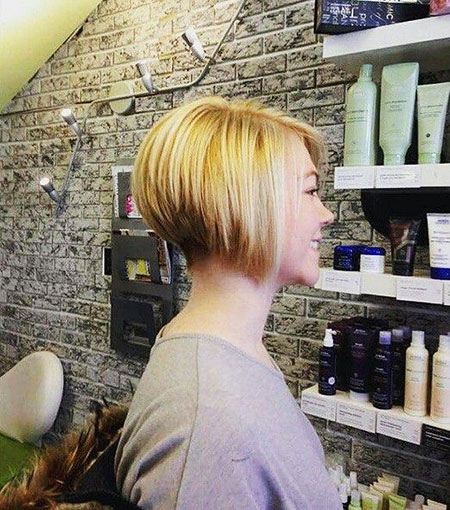 Bob Short Inverted Bobs Woman without Thin Pixie