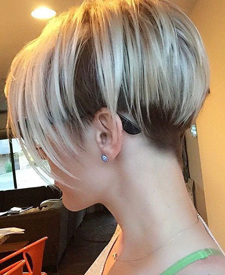 Short Bob Blonde Under Pixie Bobs