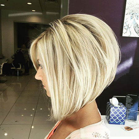 Bob Bobs Blonde Layered Inverted