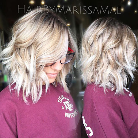Blonde Choppy Bobs Balayage Yellow Trend Short Lob