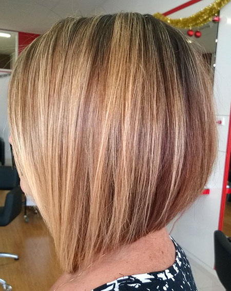 One Length Short Bob Lowlights Highlights Female Bobs