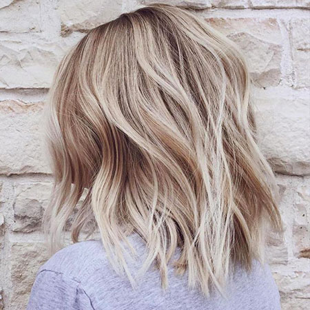 Blonde Thin Balayage Textured Straight Lob Layers Ends Choppy