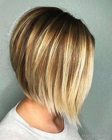 Bob Balayage Blonde Women Shoulder Length Layered