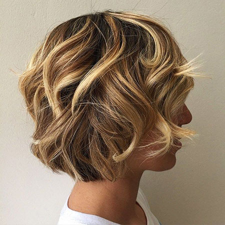 Messy Updo Layers Layered Bob Wedding Modern Lowlights Highlights Curly