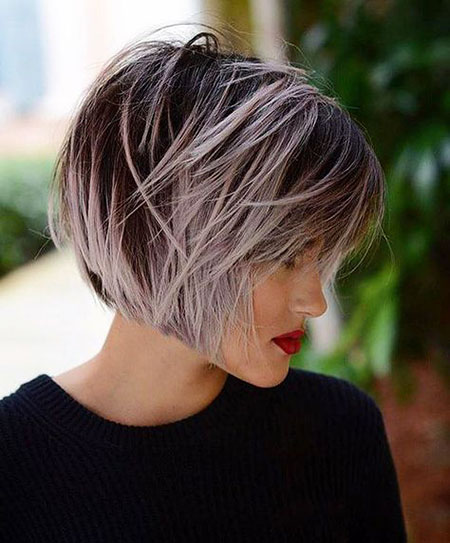 Short Bob Balayage Layered Blonde Trendy Trends De