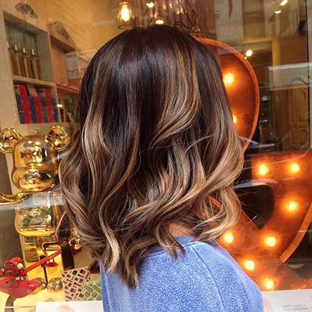 Balayage Highlights Thick Summer Long Lob Little Honey Cute Colour
