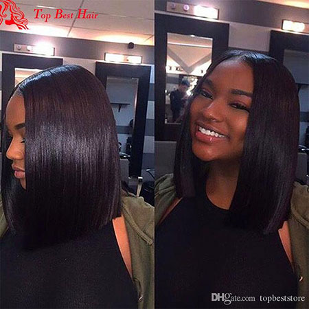 Bob Blunt Straight Short Perm Part Middle Long Full Front
