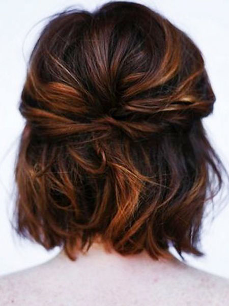 Wedding Updo Short Half Bobs Bob