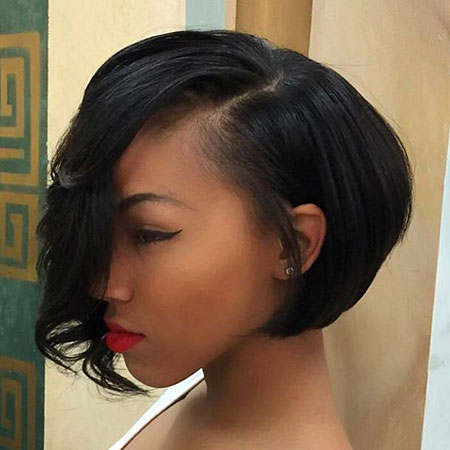 Short Bob Women Weave Side Sexy Part Bobs Black