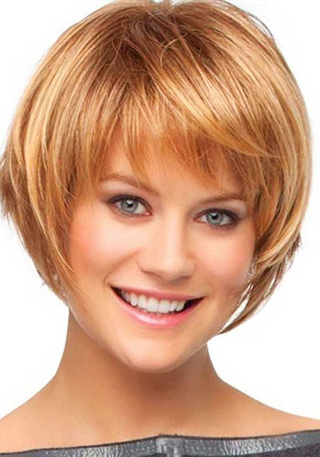 Short Bob Women Round Medium Long Face Bobs Bangs