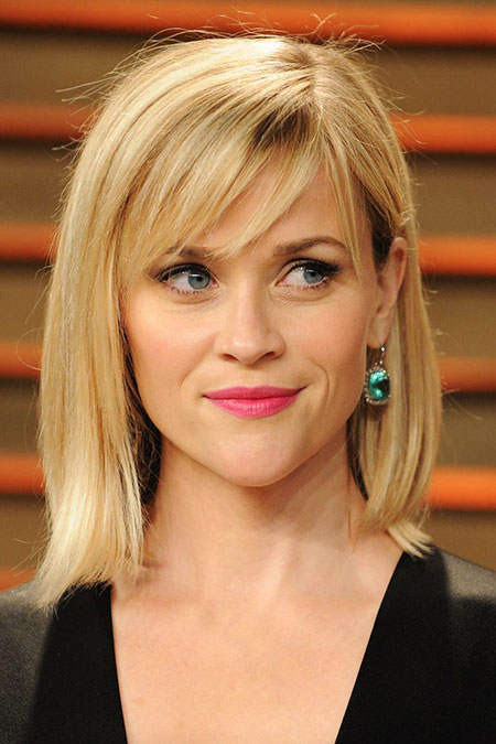 Reese witherspoon Side Bangs Swept Real