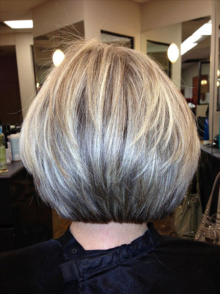 Bob Layered Blonde Bobs Stacked Shag Medium Layers