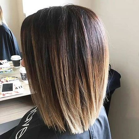 Length Straight Shoulder Ombre Medium