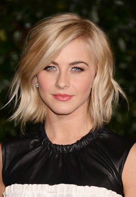 Bob Short Julianne Bangs Hough Choppy Wavy Side Medium