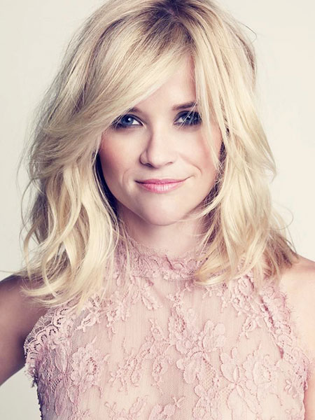 Reese witherspoon Blonde Wavy Shoulder Shaggy