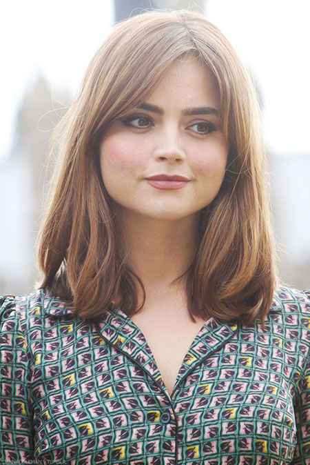 Jenna Coleman Stone Emma Bob Short Long Bangs