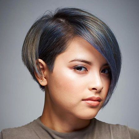 Short Round Bob Faces Face Volume Shape Cute Back