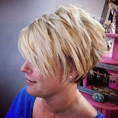 Short Bob Pixie Choppy Layered Blonde Women Teens