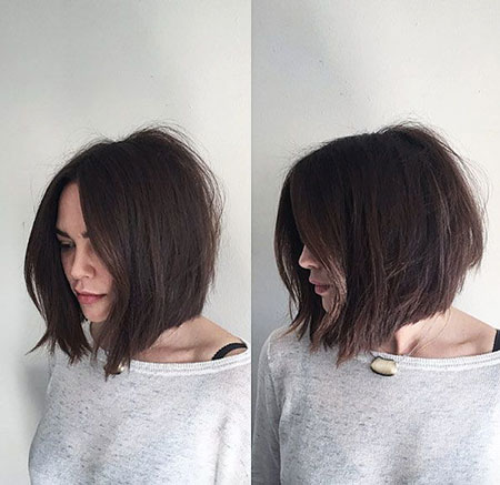 Bob Short Bobs Under Tousled Textured Straight Soft