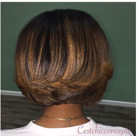 Highlights Bob Blonde Layered Bobs Blond Balayage African