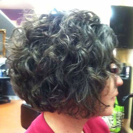 Curly Short Thick Bob Updo Gray Curls