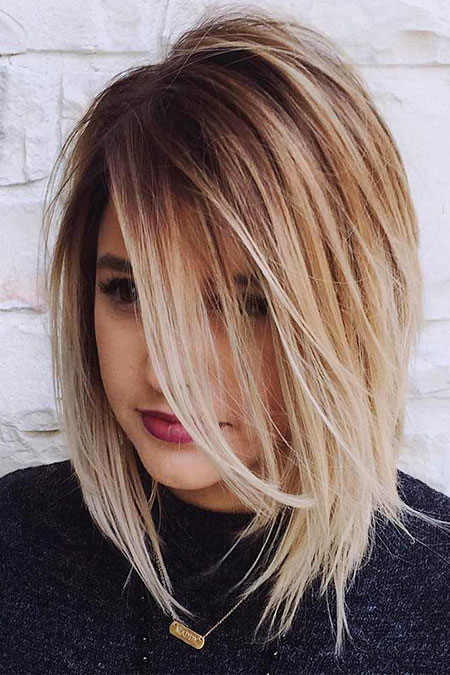 Bob Blonde Balayage Medium Trendy Short Length Layers