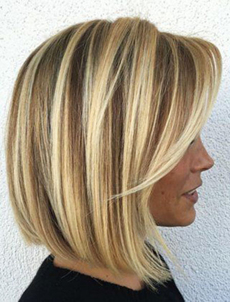Bob Balayage Blonde Highlights Short Shag Lowlights Fine Angled