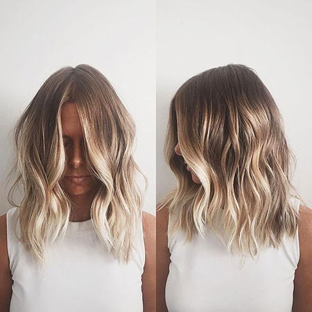 Blonde Balayage Ombre Bleach Shoulder Medium