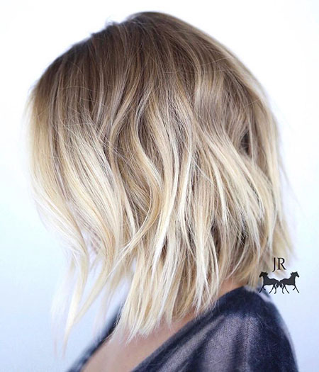 Bob Blonde Balayage Medium Longer Length Bobs 50 40
