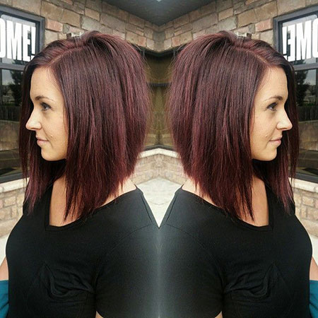 Bob Long Shades Inverted Brown Balayage
