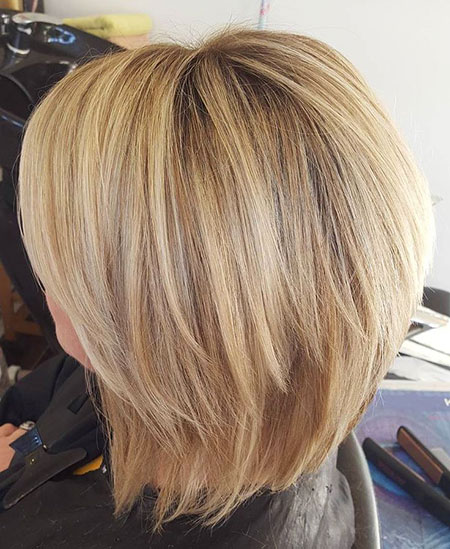 Bob Bobs Blonde Shaggy Choppy Two Trendy Layers