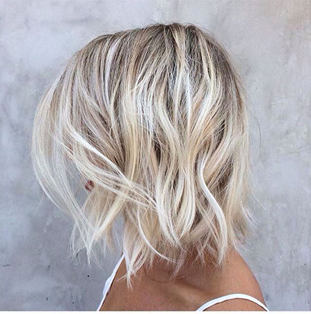 Blonde Balayage Bob Short Bobs Platinum Intense