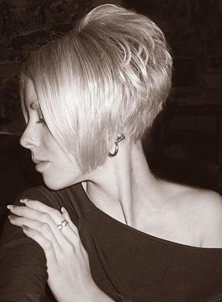 Short Bob Stacked Angled Pixie Bobs
