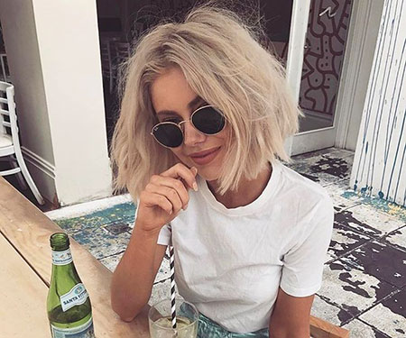 Bob Blunt Short Blonde Sunglasses