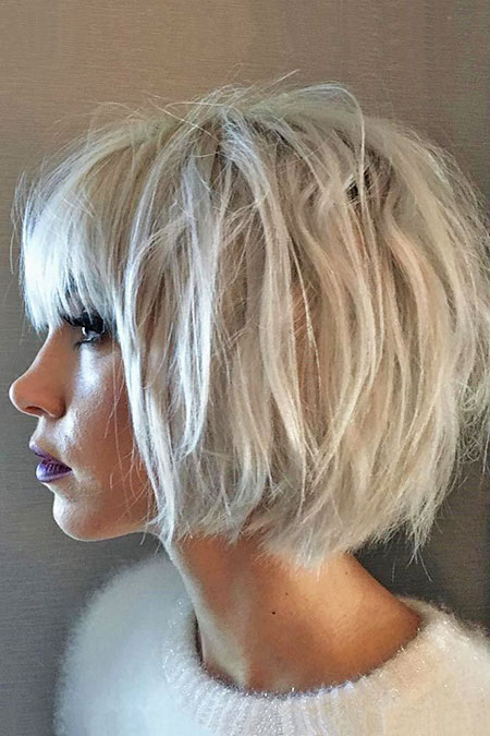 Short Blonde Round Face Bob Trend Layered Fine Faces