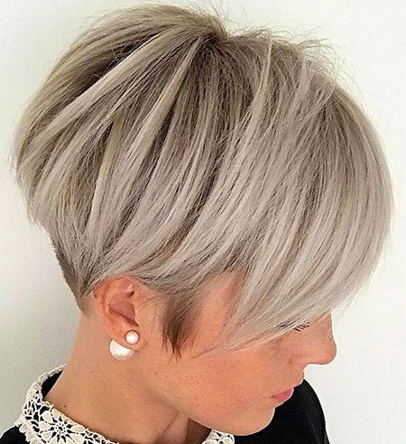 Short Pixie Bob Blonde Women Layers Fine Bobs 207